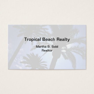 Tropical Real Estate Business Card