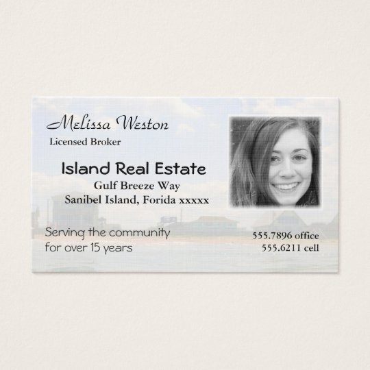 Tropical Realtor's Business Card Photo Template