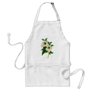 Tropical Red and White Hibiscus by Redoute Adult Apron