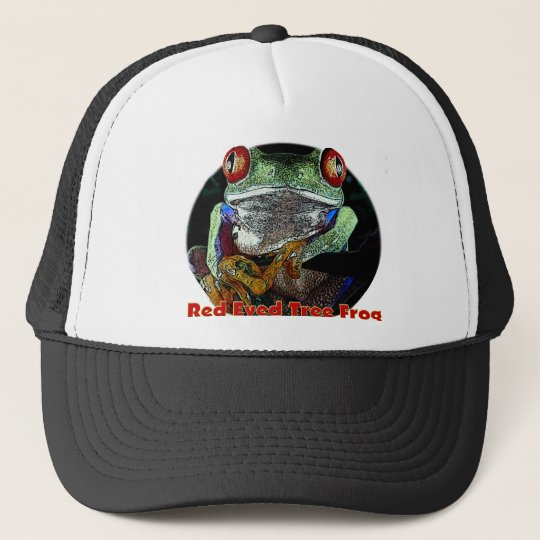 Tropical Red Eyed Tree Frog from Junglewalk.com Trucker Hat