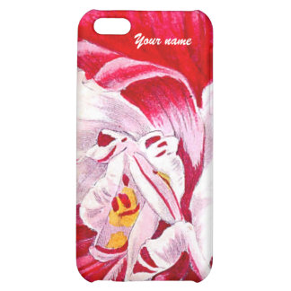 Tropical Red Flower Abstract Art Beach Wedding iPhone 5C Cover