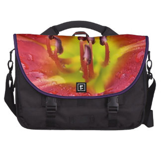 Tropical Red Lily Laptop Computer Bag