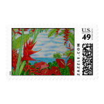 Tropical Red Stamp