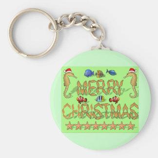 Tropical Reef Christmas Key Chains