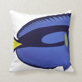 Tropical Reef Fish -Palette Surgeon1 throw cushion