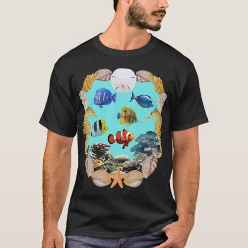 Tropical Reef Fish T_Shirt