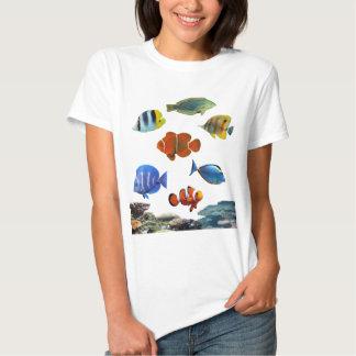 Tropical Reef With Fish T Shirt