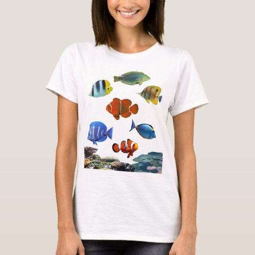 Tropical Reef With Fish T_Shirt