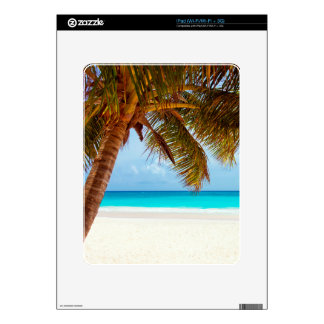 Tropical Relaxing Beach Palm Scene iPad Skin