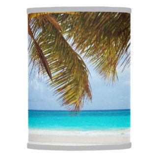 Tropical Relaxing Beach Palm Scene Lamp Shade
