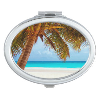 Tropical Relaxing Beach Palm Scene Mirror For Makeup