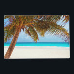 """Tropical Relaxing Beach Palm Scene Placemat<br><div class=""""desc"""">&quot;Beautiful tropical chilling beach scene image. Looks cool and relaxing on all products.  Visit my Store: http://www.zazzle.com/wonderfulpictures*</div>"""