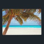 "Tropical Relaxing Beach Palm Scene Placemat<br><div class=""desc"">&quot;Beautiful tropical chilling beach scene image. Looks cool and relaxing on all products.