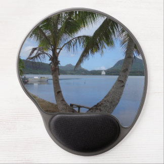 Tropical relaxing rounded mousepad gel mouse pad