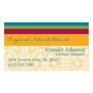 Tropical Resort Manager Business Card