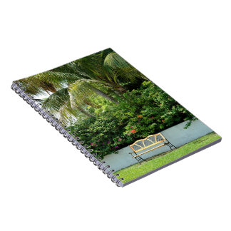 Tropical resting bench Notebook