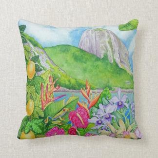Tropical Rio de Janeiro Throw Pillow
