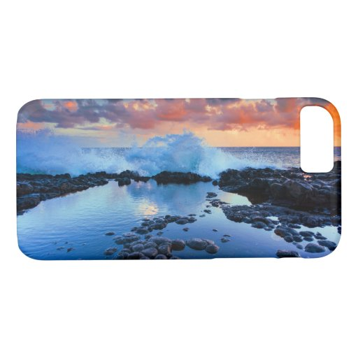 Tropical Rocky Beach Sunset Sea Wave iPhone 8/7 Case
