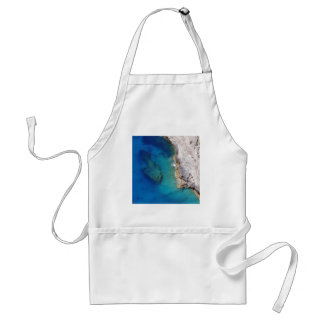 Tropical Rugged Coral Reef Adult Apron