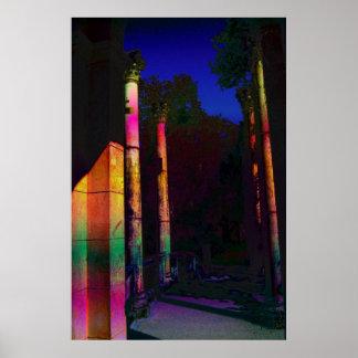 Tropical Ruins Corinthian Columns XII Poster