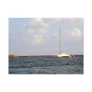 tropical sailing canvas print