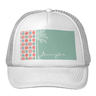 Tropical Salmon, Coral Pink, & Seafoam Hats