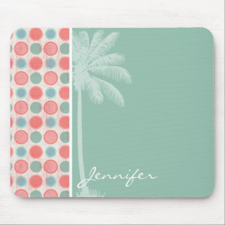 Tropical Salmon, Coral Pink, & Seafoam Mouse Pad