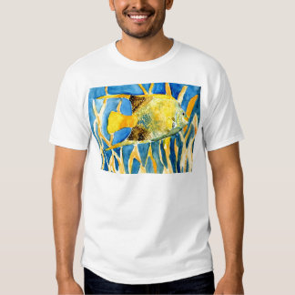 tropical saltwater fish sea life art painting gift t-shirt