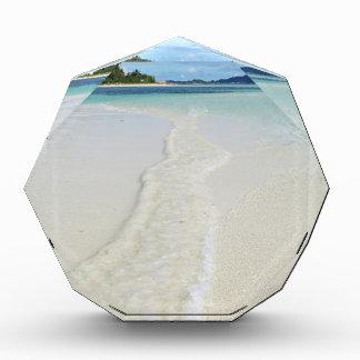 tropical sandbank acrylic award