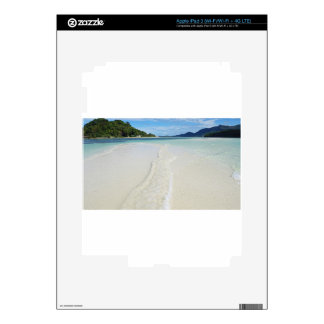 tropical sandbank decal for iPad 3