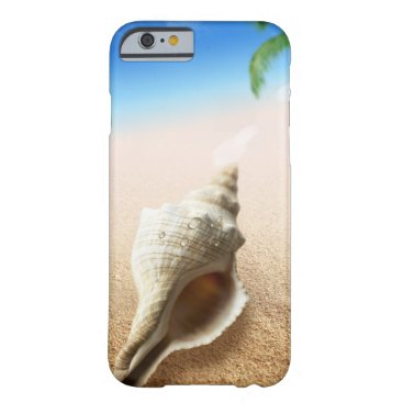 Tropical Sandy Beach with Conch & Turquoise Water Barely There iPhone 6 Case