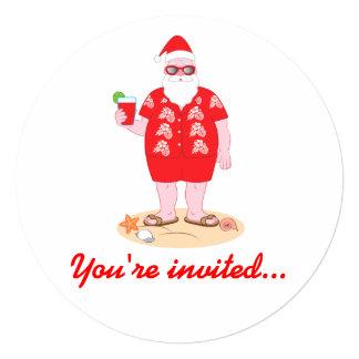 Tropical Santa Claus Card