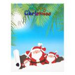 tropical Santa Personalized Letterhead