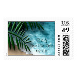 Tropical Save The Date Postage Stamp