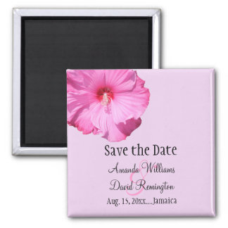 Tropical Save the Date (purple) Fridge Magnets