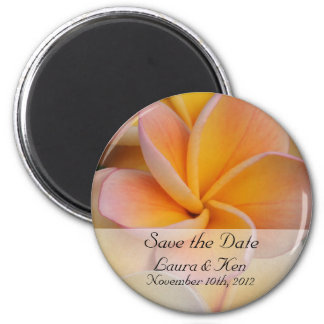 Tropical Save the Date Wedding Magnet