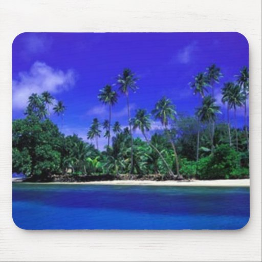 Tropical Scenc Mouse Pad