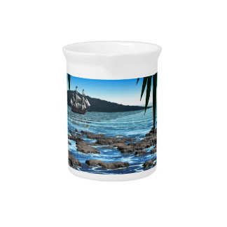 Tropical Scene Beverage Pitcher
