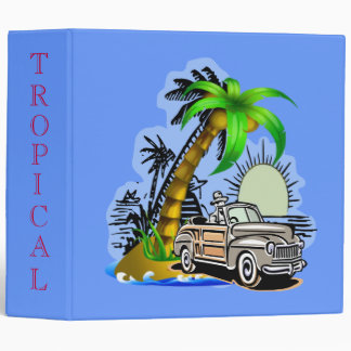Tropical scene binder