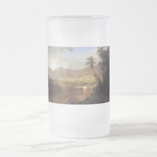Tropical Scene by Frederick Edwin Church Frosted Glass Beer Mug
