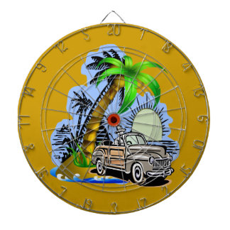 Tropical scene Dartboard