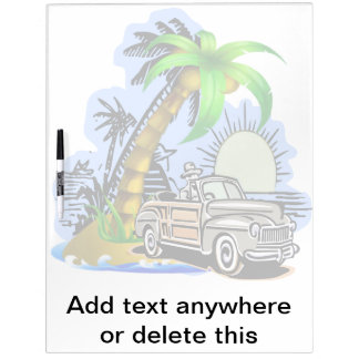 Tropical scene Dry Erase Board