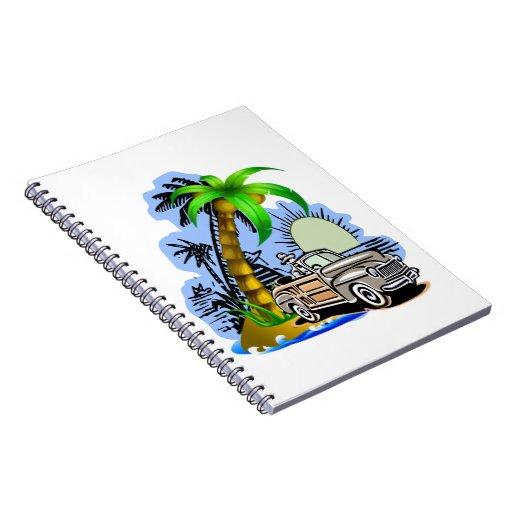 "Tropical scene Notebook 6.5x8.75"""
