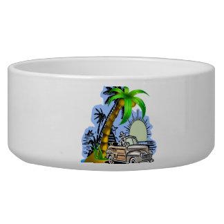 Tropical scene Pet Bowls (2) sizes