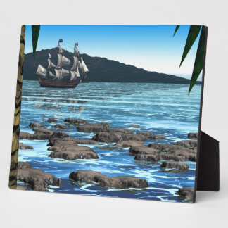 Tropical Scene Plaque