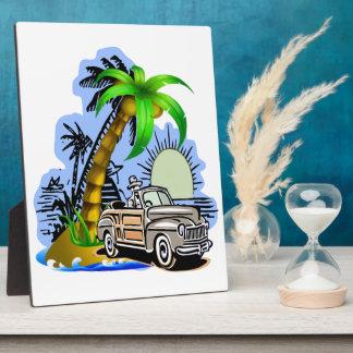 "Tropical scene Plaque 8x10"""