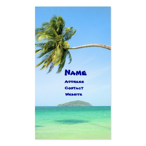 Tropical Scenery Business Card Templates