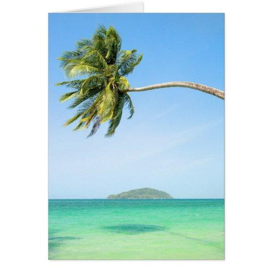 Tropical Scenery Card