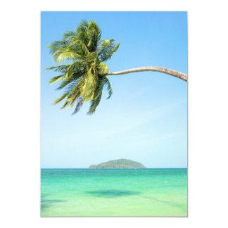 Tropical Scenery 5x7 Paper Invitation Card