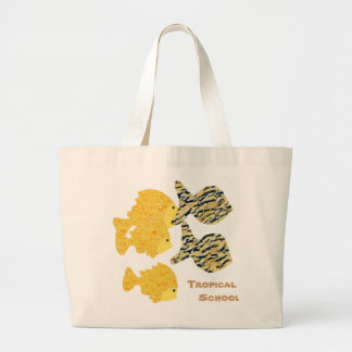 Tropical School Large Tote Bag